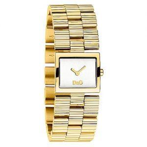 Orologio donna D&G DW0340,movimento al quarzo, bracciale in acciaio inox dorato, sfondo quadrante bianco con displayanalogico,vetro minerale.resistente all'acqua 3 bar.