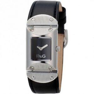 Orologio da donna D&G DW0325,Movimento al quarzo, cassa in acciaio con viti, vetro minerale curvato, resistente alla acqua3 bar.Cinturino in pelle nero con fibbia personalizzata D&G.