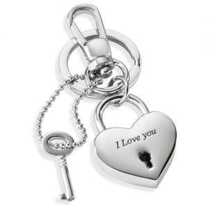 Portachiavi Donna Morellato SD7129 collezione Love Padlock Heart.