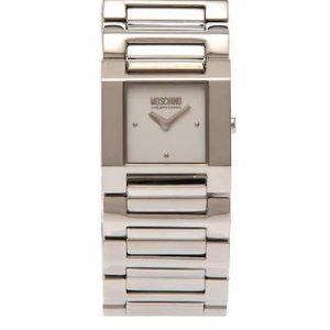 Orologio da donna Moschino Mw0357, solo tempo con cassa in acciaio. Cinturino in acciaio. Resistente all'acqua 3 atmosfere.