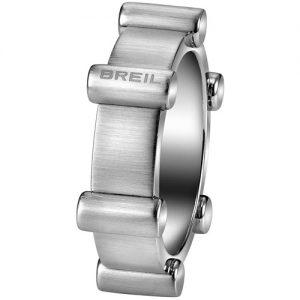 Anello Uomo Breil TJ1710 collezione Bullet, realizzato in acciaio acciaio bilux. Misure 21 - 19