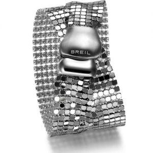 Bracciale Donna Breil TJ1228 collezione Steel Silk in acciaio lucido che si indossa con doppio girointorno al polso e termina con una pratica chiusura a clip.