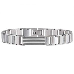 Bracciale Uomo Breil TJ1867 collezione Grades realizzato in acciaio bilux.