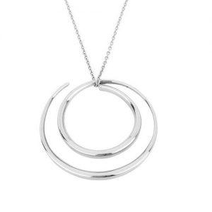 Collana Donna Breil TJ2179 collezione Ipnosi in acciaio lucido. Lunghezza regolabile di 70-80 cm e chiusura a moschettone. Può essere indossato anche come spilla