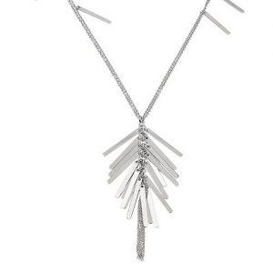Collana Donna Breil TJ2214 collezione Bangs composta da doppia collana in acciaio lucido con elementi rettangolari della lunghezza di 80 cm.
