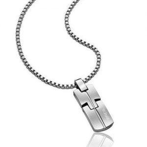 Collana Uomo Breil TJ1387 realizzata in acciaio bilux. Catena in acciaio satinato. Chiusura a moschettone.