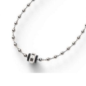 Collana Uomo Breil TJ1822 collezione Dots realizzata in acciaio lucido e satinato con elementi decorativi in ip nero. Lunghezza regolabile: 44-48 cm. Chiusura a moschettone.
