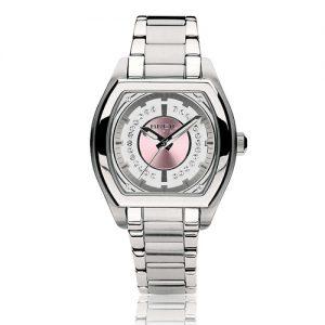 Orologio Donna Breil TW0561 realizzato in acciaio con quadrante quadrato, colore rosato, vetro minerale. Bracciale in acciaio inox.