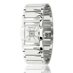 Orologio Donna Breil TW0611 solo tempo con cassa quadrata in acciaio, quadrante bianco e vetro minerale. Bracciale in acciaio.