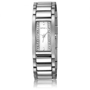 Orologio Donna Breil TW0914 modello solo tempo con cassa quadrata e quadrande bianco.