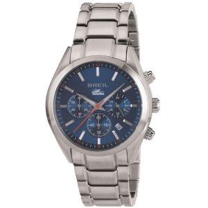 Orologio Uomo Breil TW1605 modello cronografo collezione Manta City. Cassa in acciaio da 42 mm e movimento al quarzo time module vd53. Quadrante blu, sfere con luminous e datario. Bracciale in acciaio. Resistenza all'acqua 10 atm.