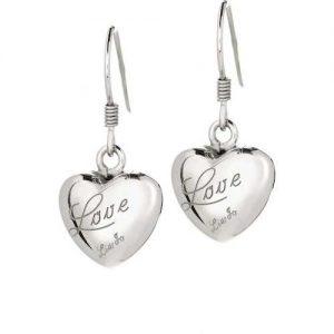 Orecchini Donna Gioielli Liujo LJ449 della collezione Love. Orecchini realizzati in argento 925.La sua forma a cuore con scritta incisa Love.