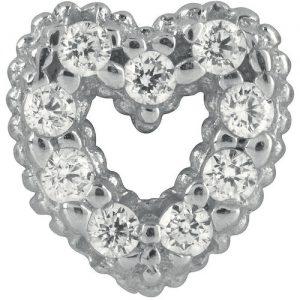 Charm gioielli Bliss 20075715 della collezione Mywords.Charm passante in argento con forma cuore. Questo Charm è compatibile con i bracciali tennis di Bliss della collezione Mywords, Puoi decidere cosi di personalizzare il tuo bracciale