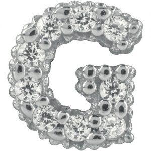 Charm gioielli Bliss 20075728 della collezione Mywords.Charm passante in argento con lettera G. Questo Charm è compatibile con i bracciali tennis di Bliss della collezione Mywords, Puoi decidere cosi di personalizzare il tuo bracciale