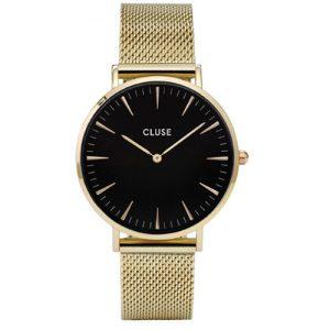 Orologio Cluse donna CW0101201014 modello solo tempo collezione La Boheme, cassa tonda, diametro 38 mm, cinturino in acciaio inox rivestito. L'orologio ha una resistenza all'acqua di 3 atm.
