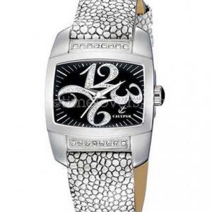 Orologio donna Calypso K5197/3 della collezione Joy. Orologio con cinturino in pelle cassa in acciaio con pietre applicati. Movimento al quarzo