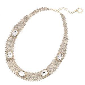 Collana da donna OTTAVIANI 500165C.Gioiello realizzato inmetallo con cristalli e strass