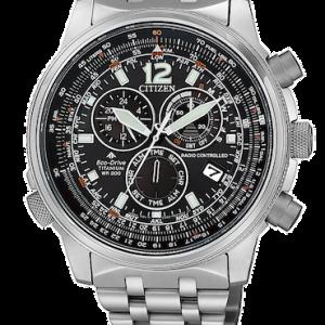 Orologio da uomo Radiocontrollato Super Titanio Citizen Cb5850-80E della collezione Pilot