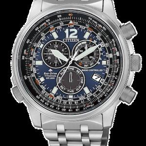 Orologio da uomo Radiocontrollato Super Titanio Citizen Cb5850-80L della collezione Pilot